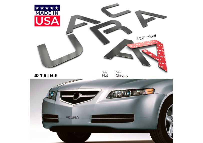 Black Front Bumper Letter Inserts for Acura TL 2004 2005 2006 2007 2008 Not Decals SFSalesUSA ACURATL-LETTERS-B