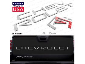 Tailgate Plastic Letter Inserts for Chevrolet Avalanche