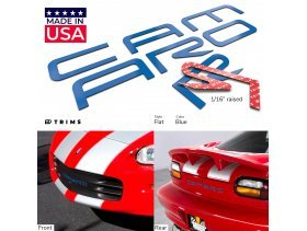 Front & Rear Bumper Plastic Letters Inserts for Chevrolet Camaro 1992-2002