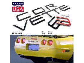 BDTrims Front and Rear Raised Letters Compatible with 1997-2004 Corvette C5 Models Black