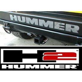 Bumper Plastic Letters Inserts for Hummer H2 Models