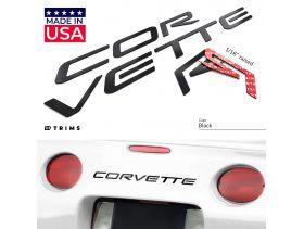 Front & Rear Bumper Plastic Letters Inserts for Chevrolet Corvette C5 1997-2004