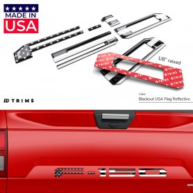 Tailgate Plastic Letters Inserts for Ford F-150 2021