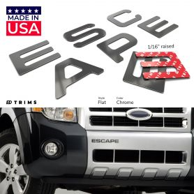 Bumper Plastic Letter Inserts for Ford ESCAPE