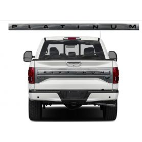 Tailgate Plastic Letters Inserts for 2015-2017 F-150 Ford PLATINUM Models