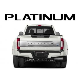 Tailgate Plastic Letters Inserts for 2017-2019 Ford PLATINUM F-250, F-350, F-450, F-550 Models
