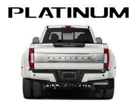 Tailgate Plastic Letters Inserts for 2017-2020 Ford PLATINUM F-250, F-350, F-450, F-550 Models