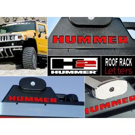 Roof Rack Plastic Letters Inserts for Hummer H2 Models