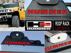 Roof Rack Plastic Letters Inserts for Hummer H2 Models