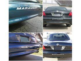Bumper Plastic Letters Inserts for 2000-2004 Mercury MARAUDER Models