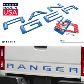 TAILGATE Raised Letters for Ford Ranger 2019-2021