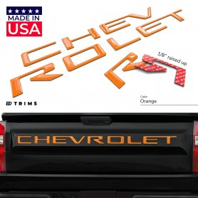 Tailgate Plastic Letters Inserts for 2019-2021 Chevrolet Silverado All Models
