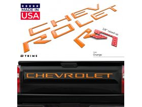 Tailgate Plastic Letters Inserts for 2019 2020 Chevrolet Silverado All Models