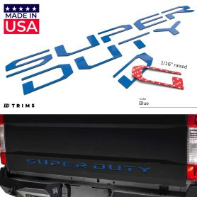 Tailgate Plastic Letters Inserts for Ford SUPER DUTY 2017-2019