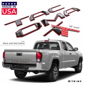 TAILGATE Plastic Letters Inserts for Toyota TACOMA  2016-2020