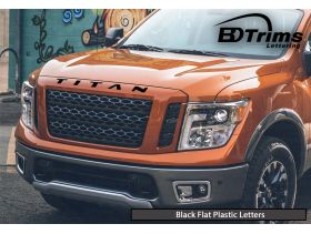 Hood Letters Inserts for Nissan TITAN Models