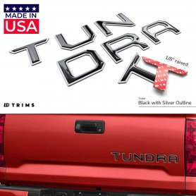 TAILGATE Plastic Letters Inserts for Toyota TUNDRA 2014-2020