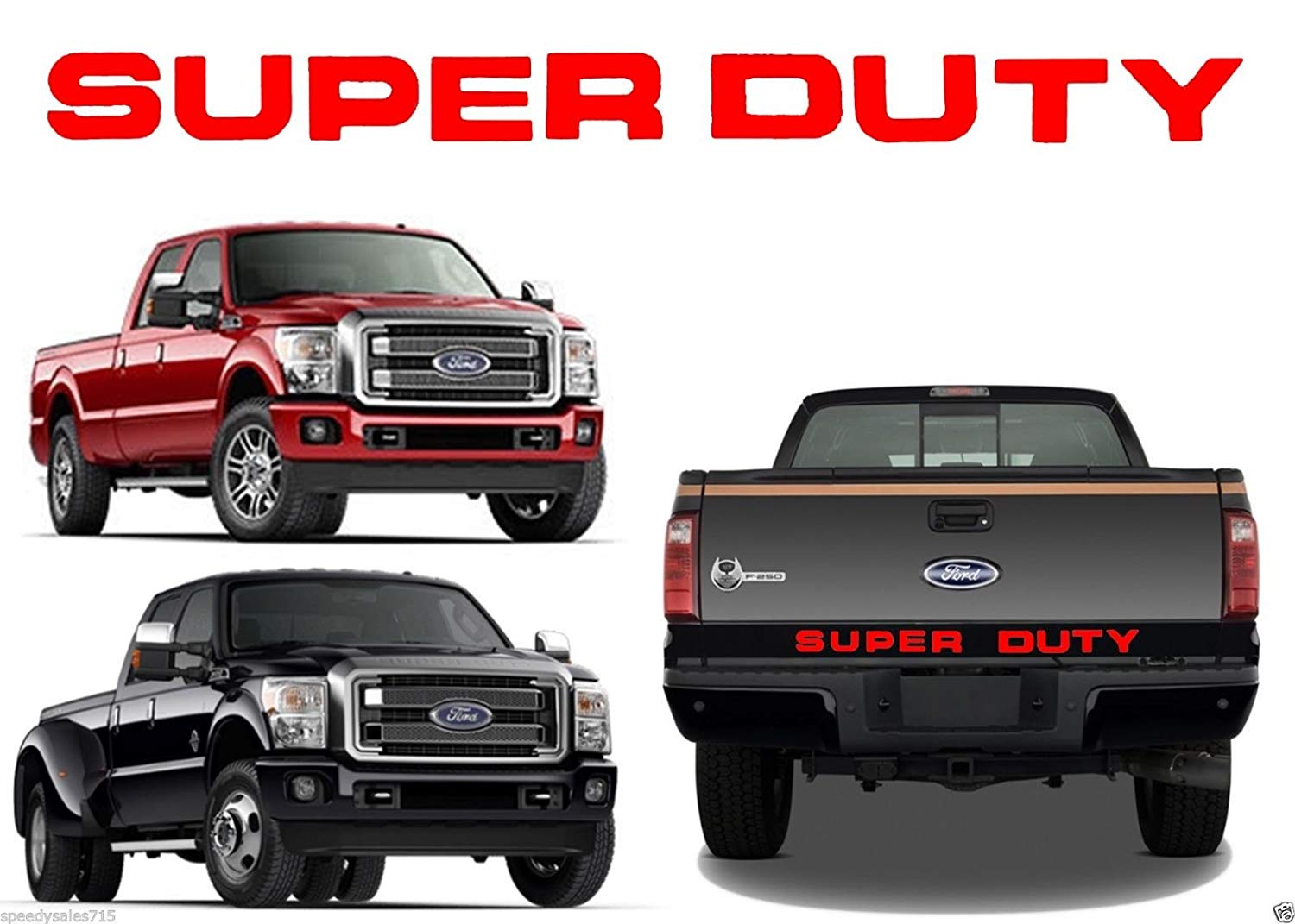 Red Dashboard Plastic Letters Inserts fits 2008-2016 Super Duty Models BDTrims SUPER-DASH-RED