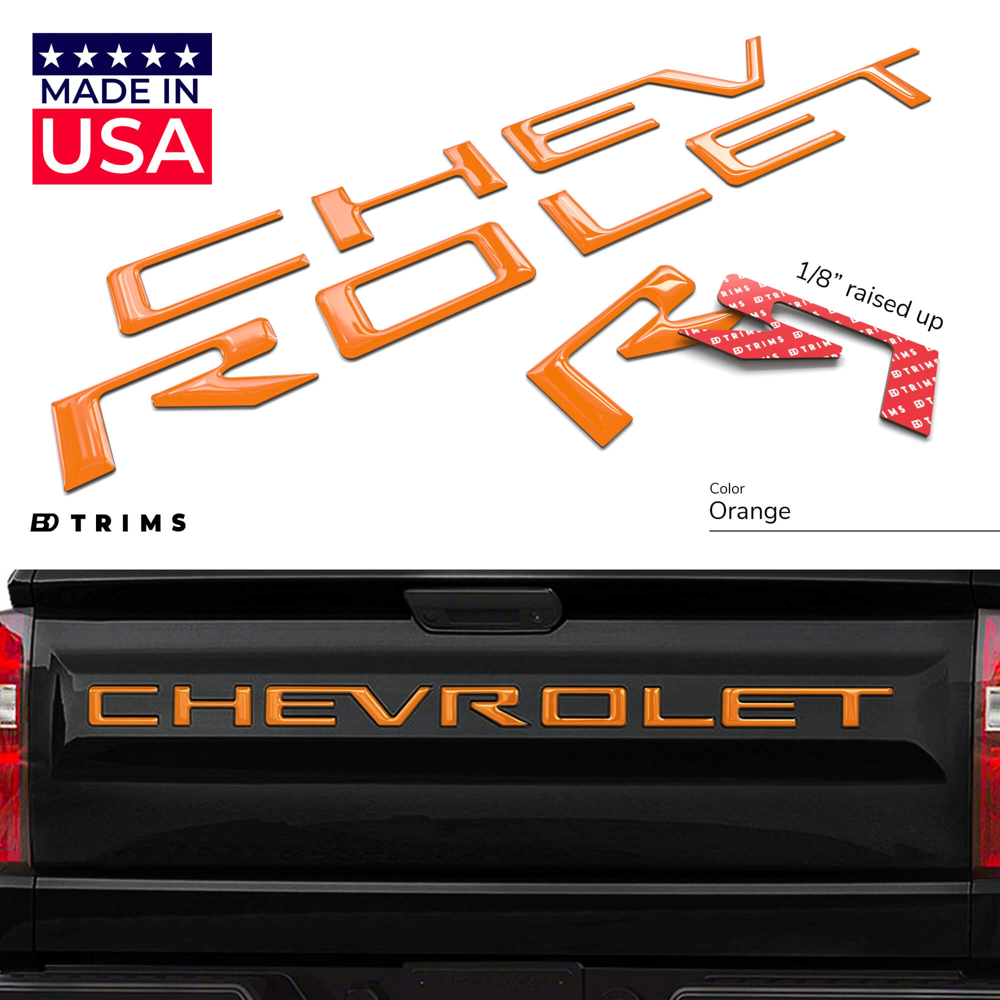 BDTrims Black Bumper Letters fits Acura TL 2004-2008 Front Plastic Inserts