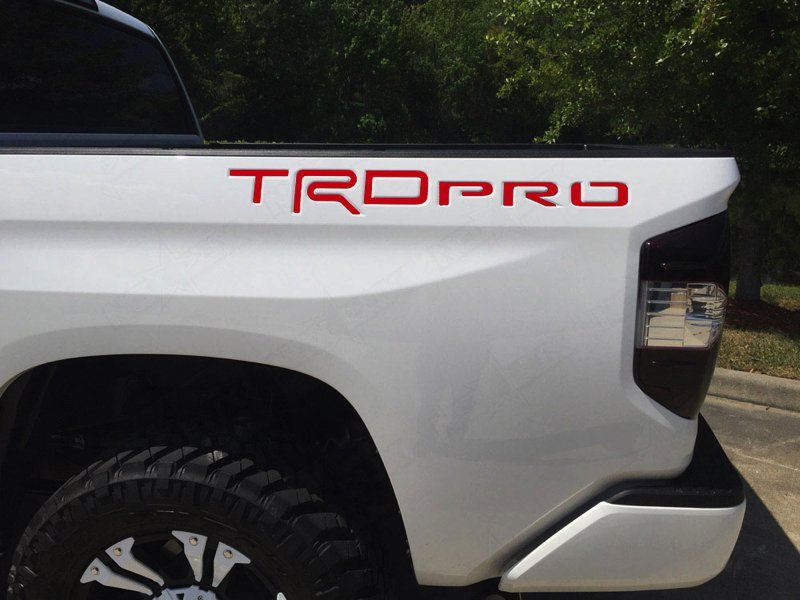 Yellow Carbon BDTrims Tailgate Raised Letters Compatible with 2014-2020 Tundra Models